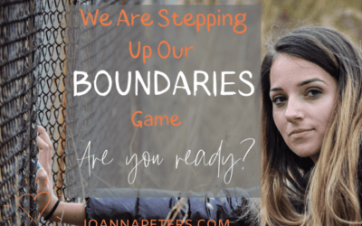 How to 'step up' your 'boundaries game'